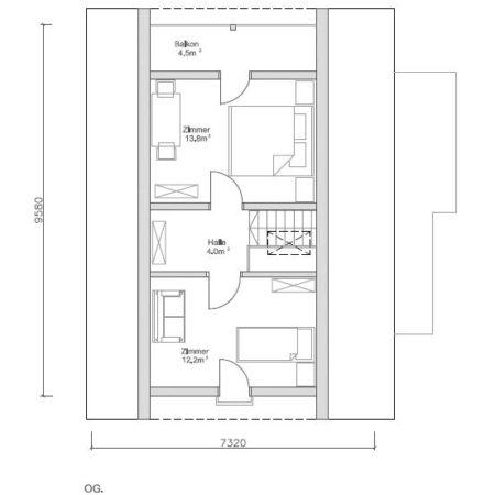 100 m2 māja