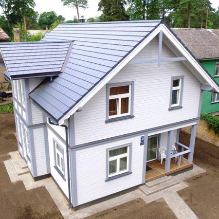 koka karkasa mājas wood panel house